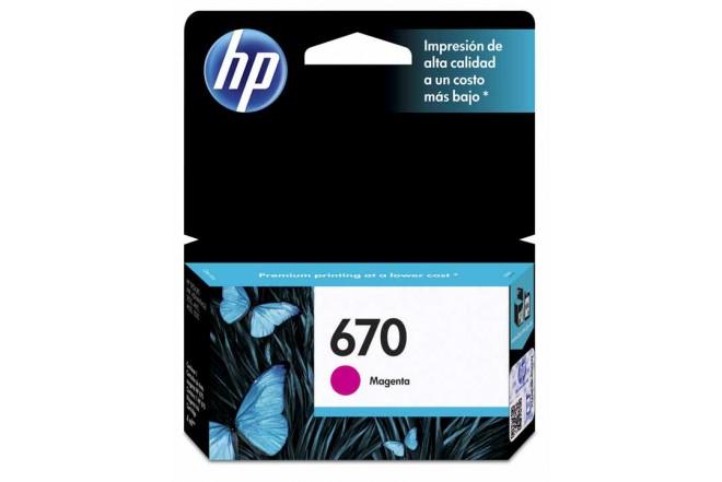 Cartucho de tinta HP 670 Magenta Original CZ115AL