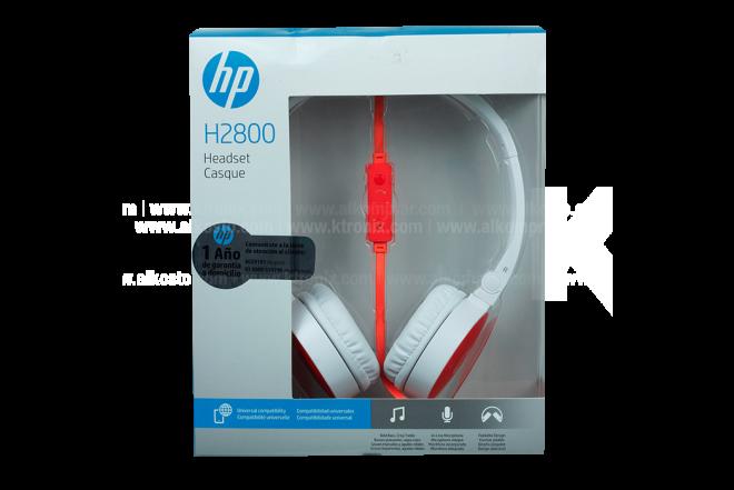 Diadema HP H2800 Blanco Cable Naranja 3.5