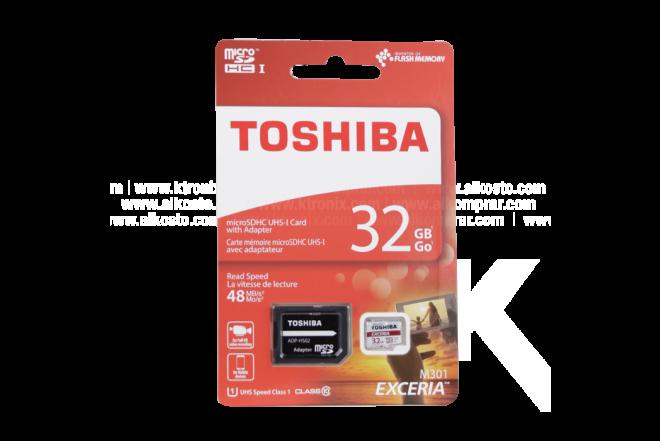 Memoria TOSHIBA Micro SD 32GB + Adaptador Cl10