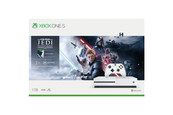 Consola XBOX ONE S 1TB + 1 Control + Juego Star Wars Jedi Fall Order