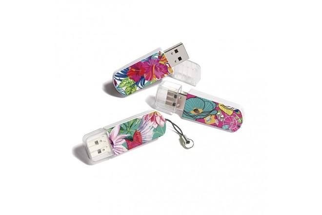Memoria USB VERBATIM 16GB 2.0 Floral