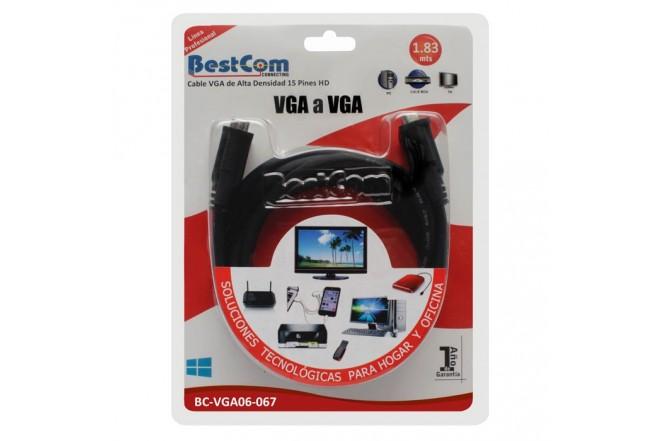 Cable VGA BESTCOM de Alta Densidad 15 pines