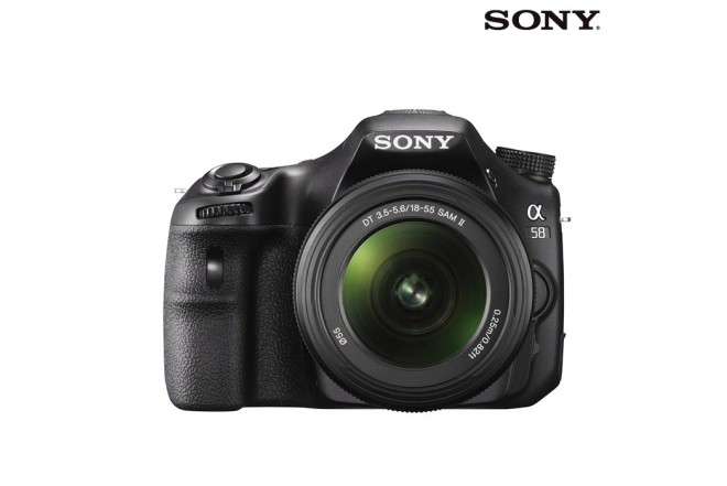 Cámara Sony Profesional SLT-A58K Negra