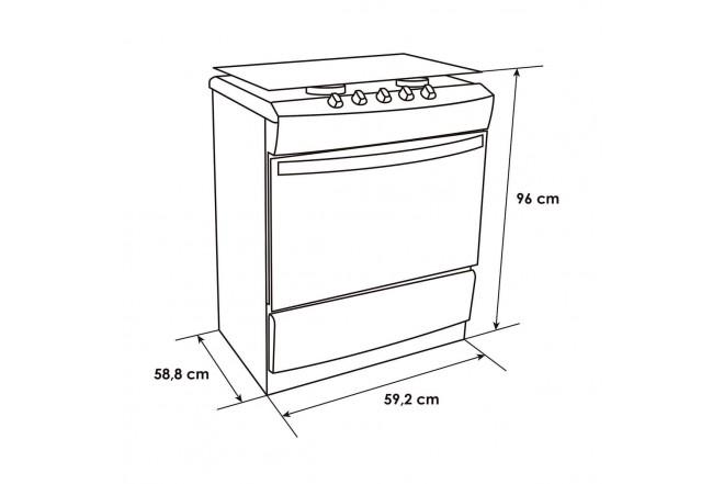 Estufa de Piso ABBA 305-6 HV 60Cm EEGN IVG Acero