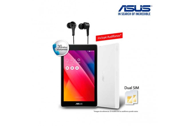 "Tablet ASUS ZZ170 7"" 8GB 3G Blanca II"