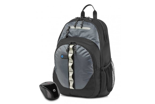 Combo HP Mouse X3000 + Backpack