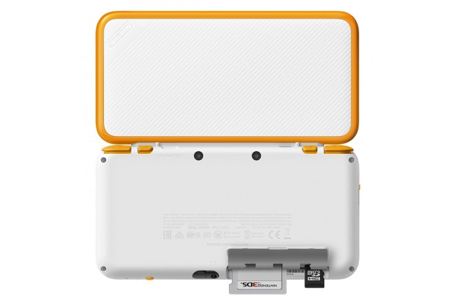 Consola 2DS XL White and Orange-b