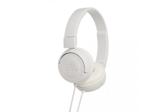 Audífonos JBL Alambrico OnEar ML T450 Blanco