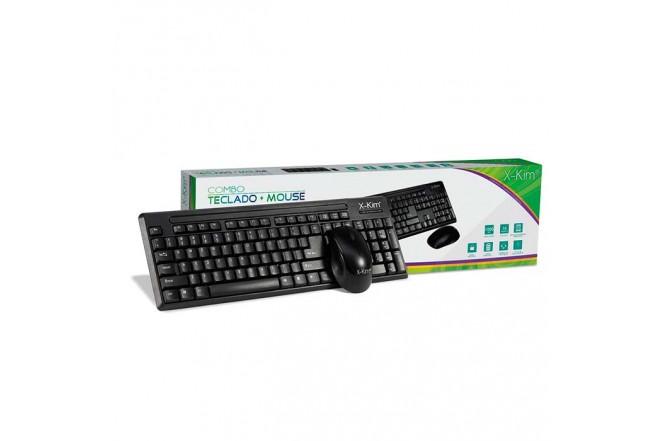 Combo X-KIM Inalambrico Teclado + Mouse Negro