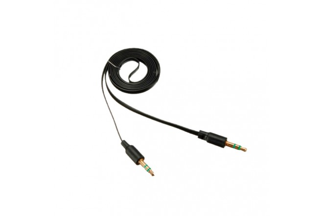 Cable KALLEY Uno/Uno Plano 1 Mt Negro
