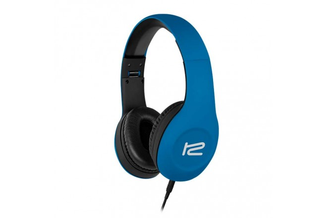 Audífonos KLIP XTREME Alambrico OnEar Plegable M/CV Azul