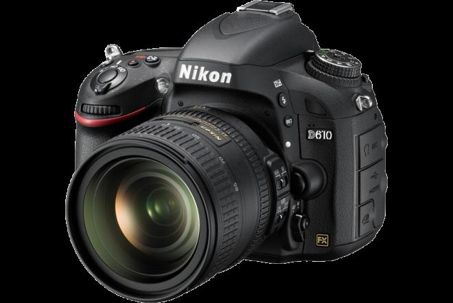 Camara NIKON D-610 Profesional  + Estuche + Memoria 8 GB Negra