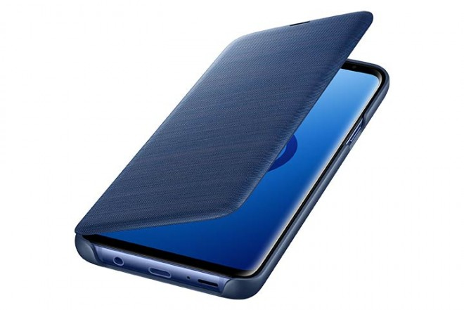 Led View Cover SAMSUNG S9 Plus Azul