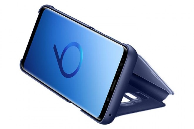 Clear View Stand SAMSUNG S9 Azul