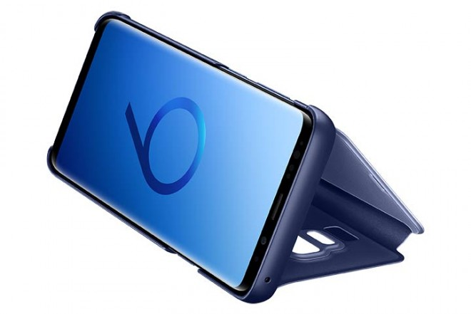 Clear View Stand SAMSUNG S9 Plus Azul