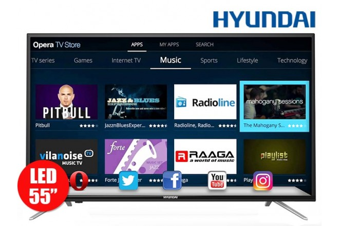 "Tv 55"" 140cm Hyundai HY LED FullHD Internet T2"