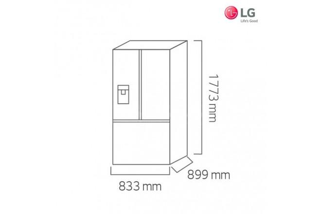 Nevecón LG 741Lt GM63SGS Inox