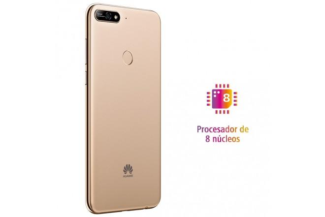Celular Libre HUAWEI Y7 (2018) Dorado DS 4G