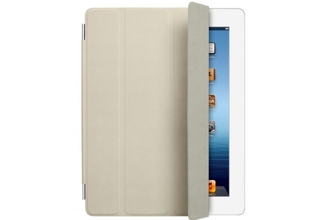 iPad SMART COVER Piel - Crema