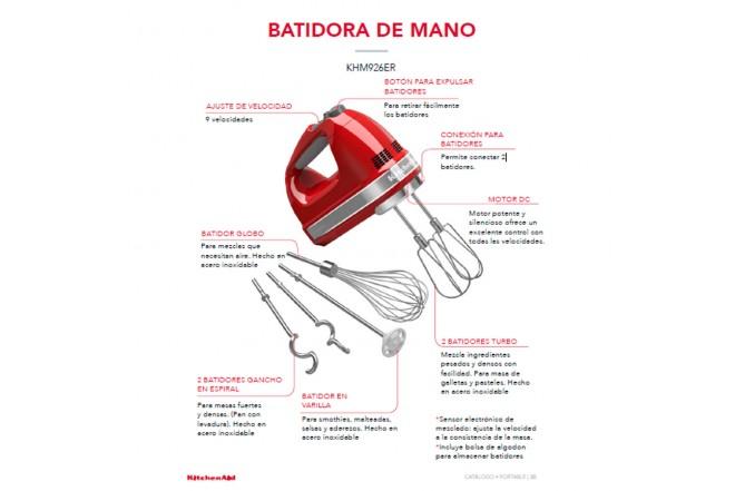Batidora de Mano KITCHENAID 9 Velocidades Rojo