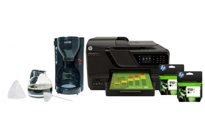 KOMBO: Multifuncional 8600 Plus + Tintas HP llévate Cafetera Kalley K-CM500