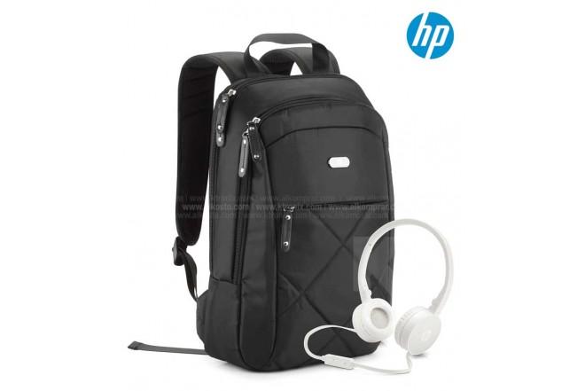 Combo HP Morral Slim + Diadema H2800 Blanco