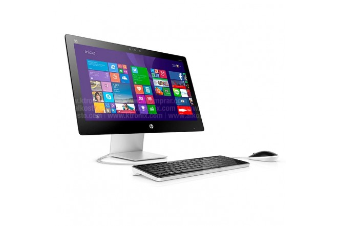 PC All in One HP 22-A025 Touch Gris / Negro
