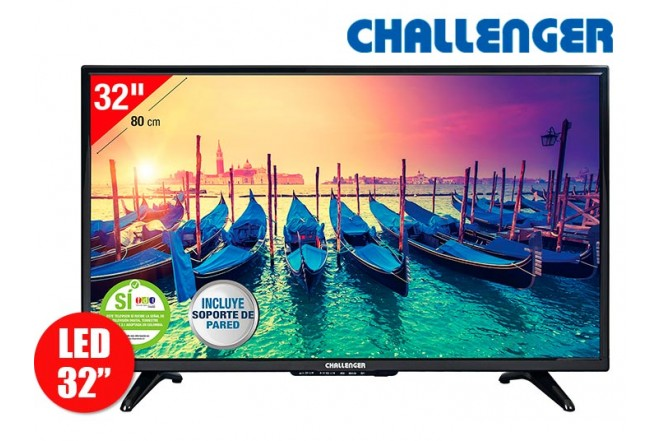 "Tv 32"" 80cm LED CHALLENGER 32T15HD T2"