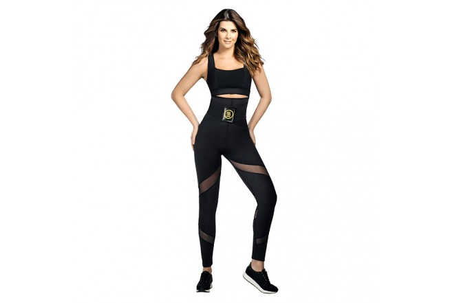 Leggins Hot Power Sweat HOT SHAPERS talla S Negros