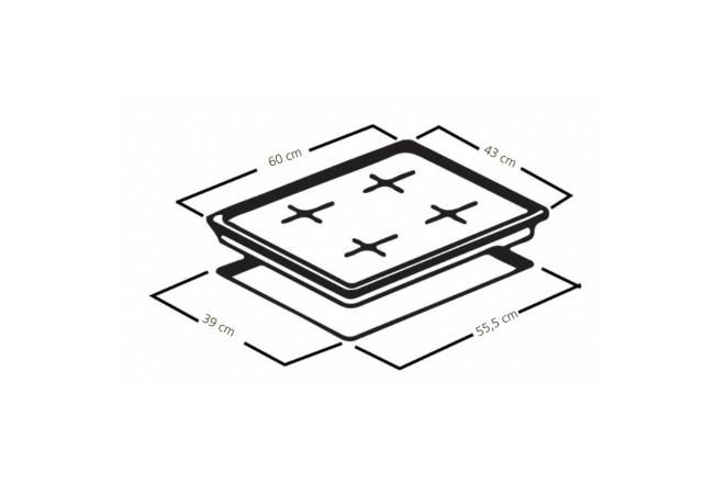 Cubierta MABE de 60cm CMG6044SA-0CON