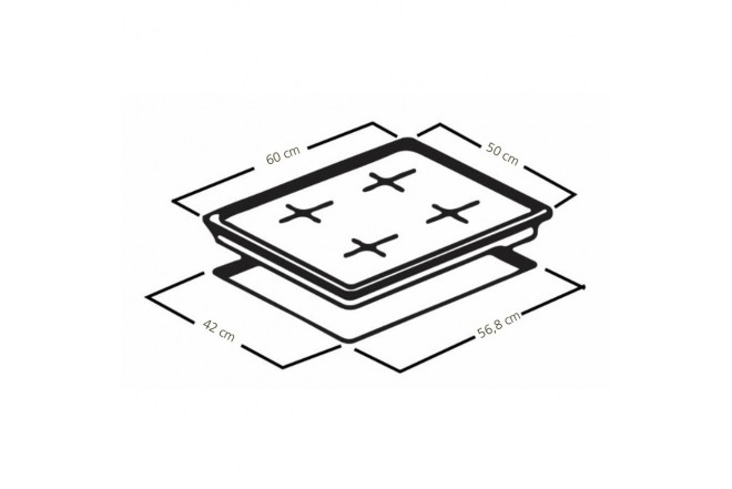 Cubierta MABE de 60cm CMG6054FA-0CON4