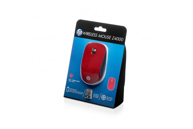 Mouse HP Inalámbrico Z4000 Rojo