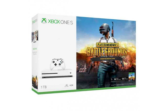 Consola XBOX ONE S 1 Tera +Videojuego Playerunknown's Battlegrounds