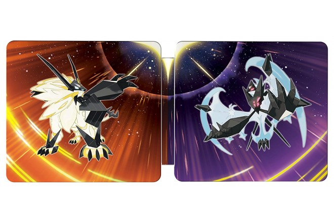 3DS Pokemon Ultra Sun & Moon Steelbook 2 Pack (2 games in 1)-a