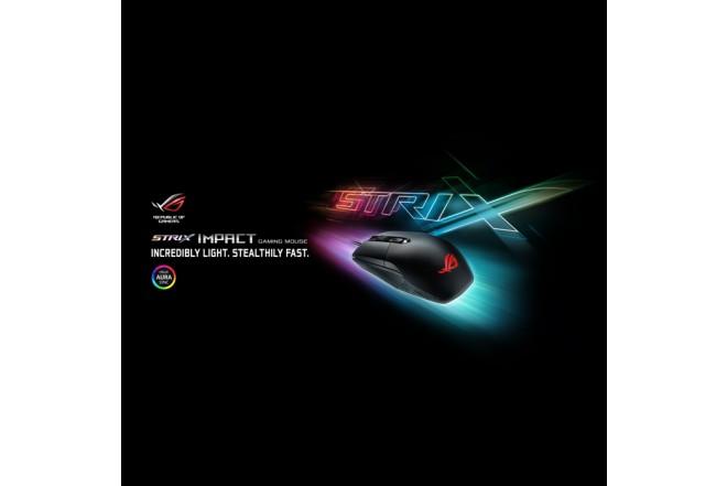Mouse ASUS Alámbrico Strix Gamers Negro