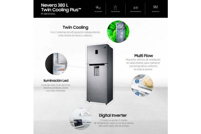Nevera SAMSUNG 384LTS RT38K5932SL INFOGRAFIA