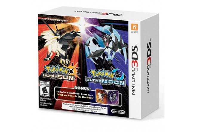 3DS Pokemon Ultra Sun & Moon Steelbook 2 Pack (2 games in 1)