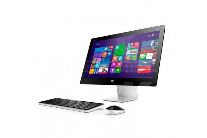 PC All in One HP 23-Q034 Touch Gris / Negro