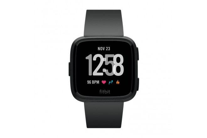 FITBIT Versa Smartwatch Black-Black Aluminum