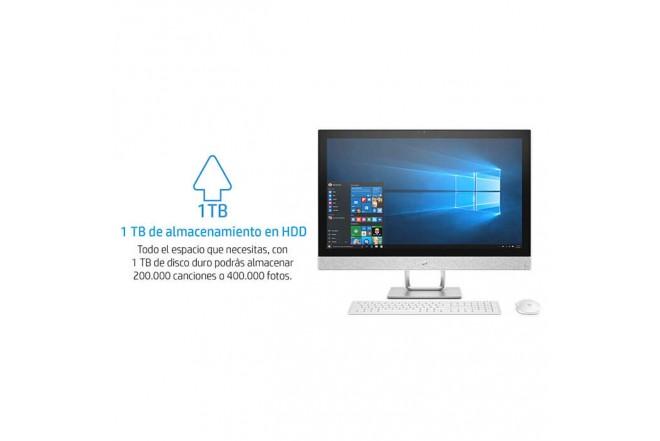"PC All in One HP - 27-R001 - Intel Core i5 - 27"" Pulgadas - Disco Duro 1Tb - Blanco"