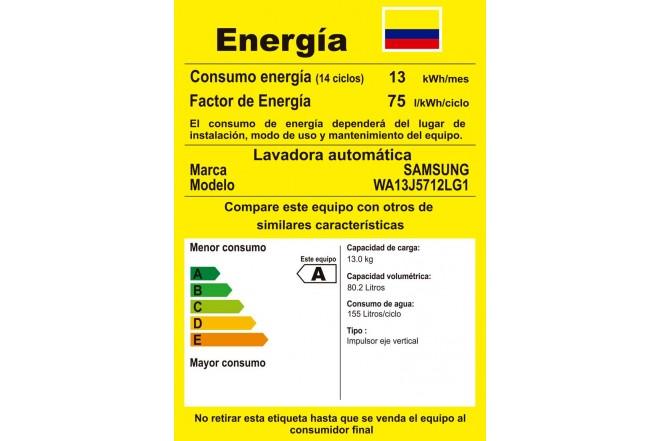 Lavadora SAMSUNG 13 Kg WA13J5712LG RETIQ