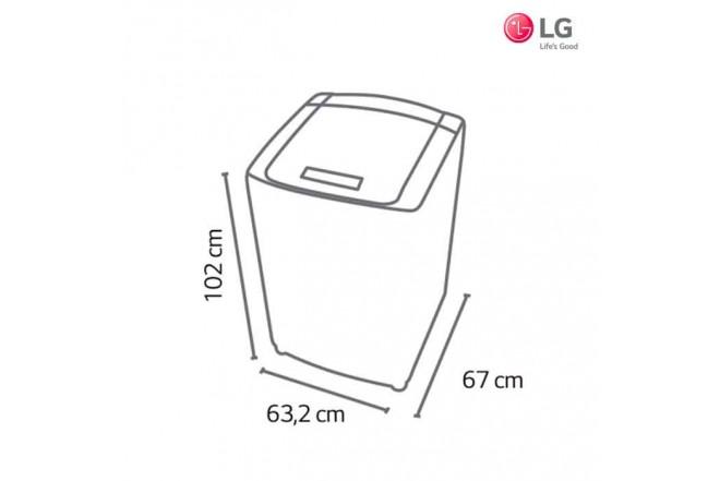 Lavadora LG 19 Kg WFS1939EKD