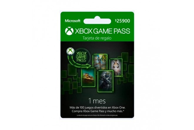 Pin Virtual XBOX Game Pass 1 Mes
