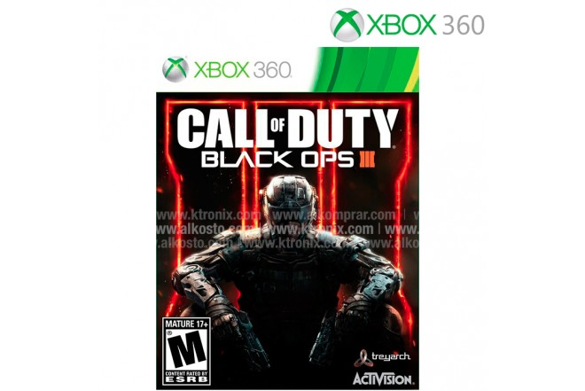 Videojuego XBOX 360 Call of Duty Blacks Ops III
