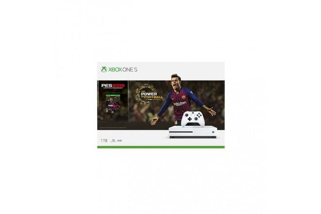 Consola XBOX ONE S 1TB + Videojuego PES2019 + 1 Control + 1 mes de XBOX LIVE + 1 mes de Xbox Game Pass