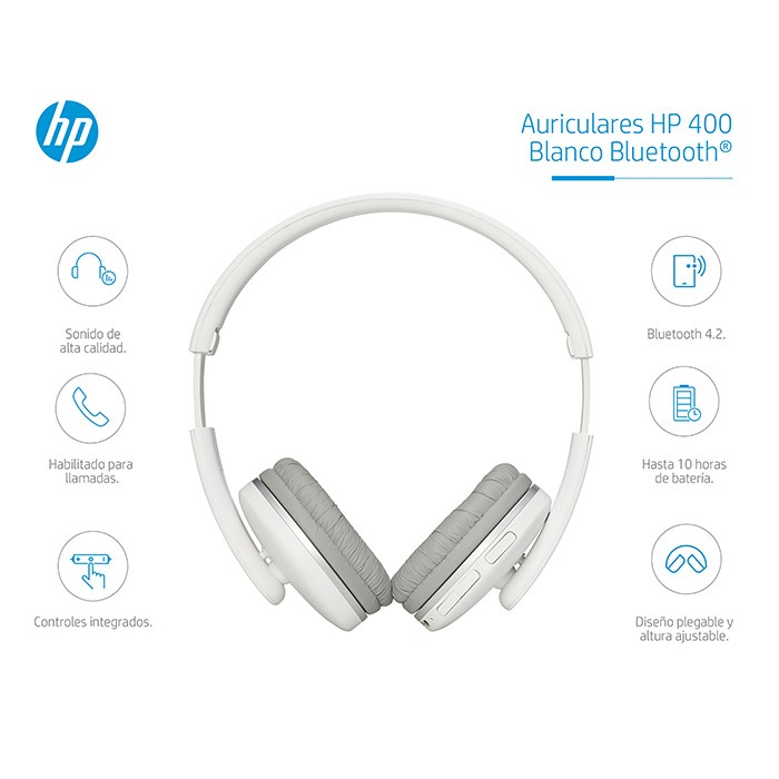 0a8351d9b3f Audifono HP Bluetooth On Ear 400 Blanco Ktronix Tienda Online