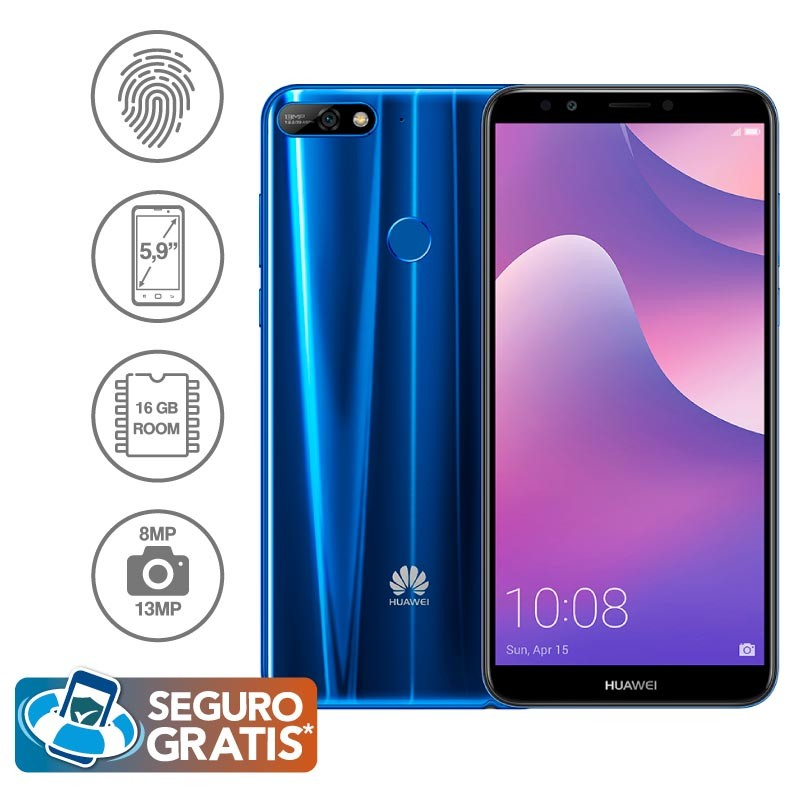 0b000360ee1 Celular Libre HUAWEI Y7 (2018) Azul DS 4G Ktronix Tienda Online