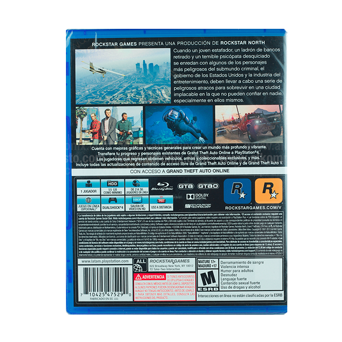 Secret Places Gta 5 Ps4: Videojuego PS4 Grand Theft Auto V Ktronix Tienda Online