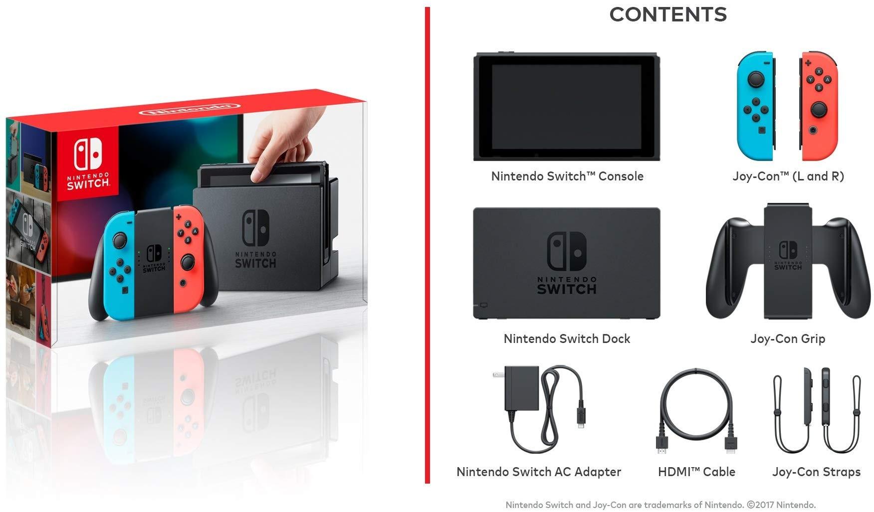 Consola Nintendo Switch Neon Blue Juego Crash Juego Minecraft