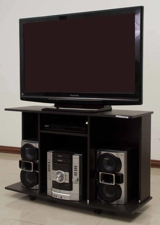 """Mesa tv 42"""" maderkit con rodachinas ktronix.com"""
